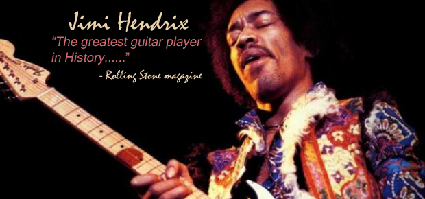 Jimi Hendrix was named the greatest guitar player in history: Rolling Stone magazine