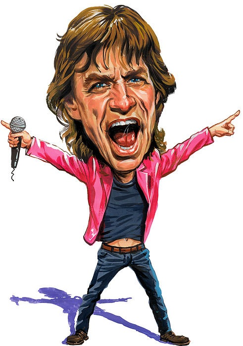 Mick Jagger Cartoon   lol-rofl.com Famous Dolphin Painting