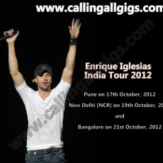 Enrique Iglesias to tour India October 2012