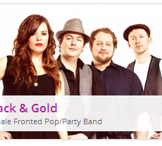 BLACK AND GOLD - a UK POP ROCK band is featured by Calling All Gigs
